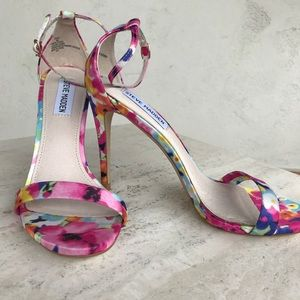 ❤️Steve Madden ankle strap flirt floral open toe 8
